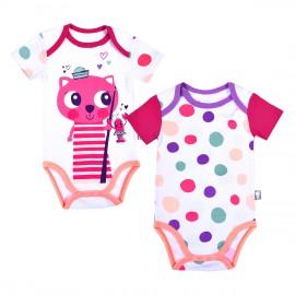 lot-2-bodies-bebe-fille-manches-courtes-minouche